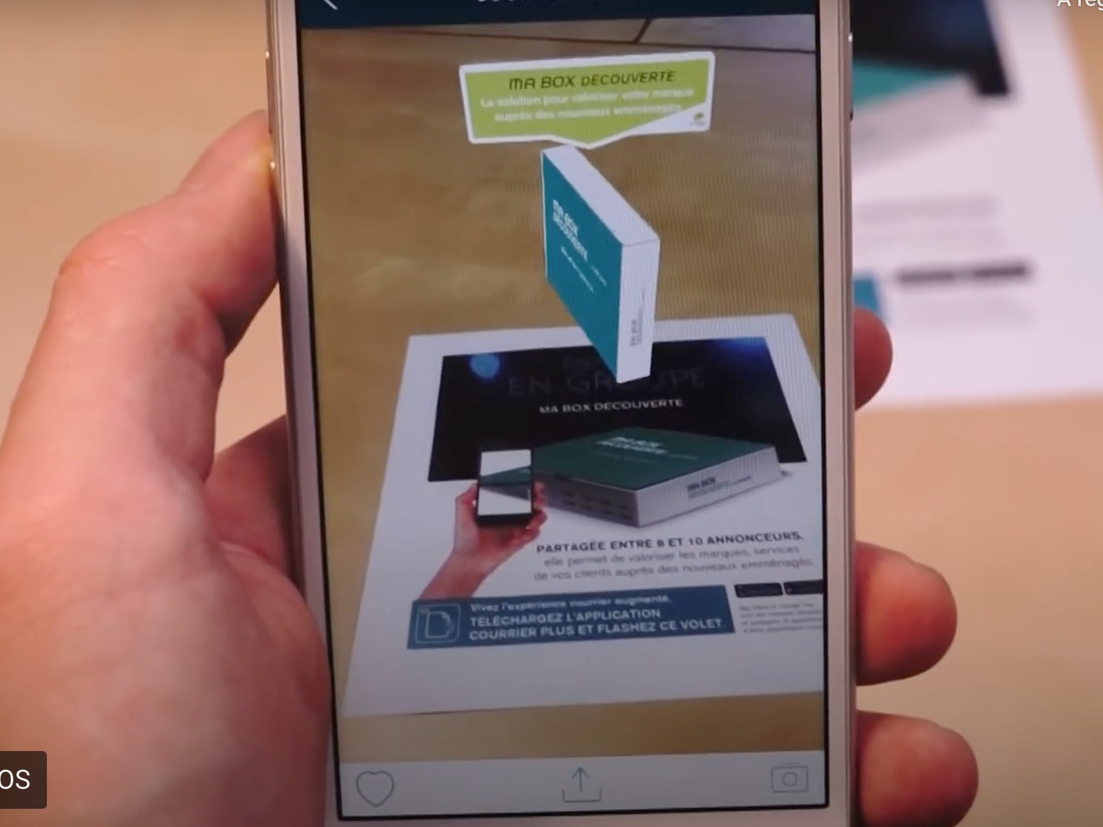 ARGOplay ex-SnapPress the native augmented reality solution for retail, commerce and consumer goods, available free of charge to end-users on iOS and Android smartphones, preview of a smartphone display