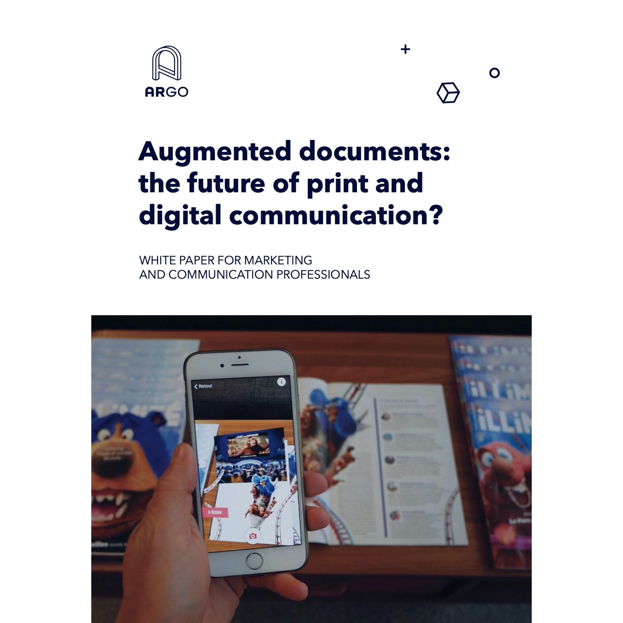 couverture d'un livre blanc ARGO, sur le consommateur augmenté